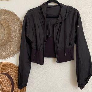 Alo Hooded Crop Jacket